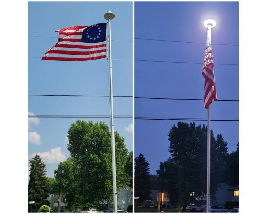 Solar Flagpole Light - Top Mounted
