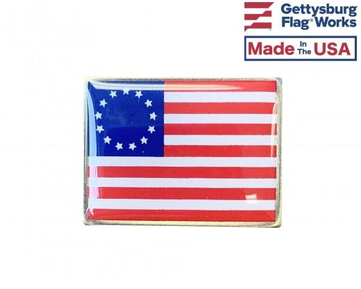 Betsy Ross Lapel Pin (Single Rectangle Flag)