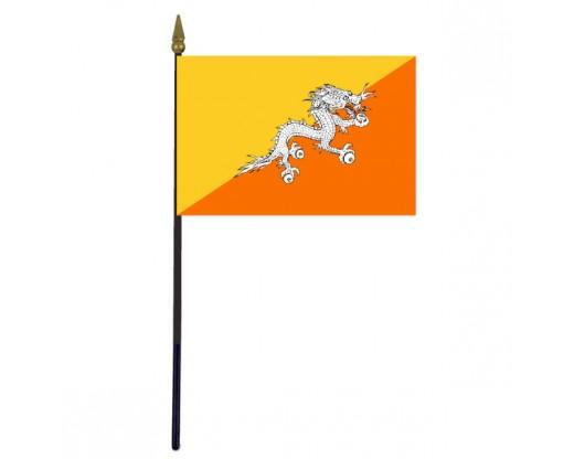 "Bhutan Stick Flag - 4x6"""