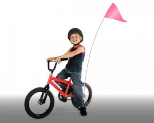 Bike Flag Set Pink