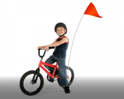 Bike Flag Set Red