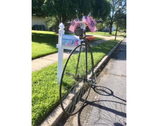 Bicycle Flag Bracket In USe