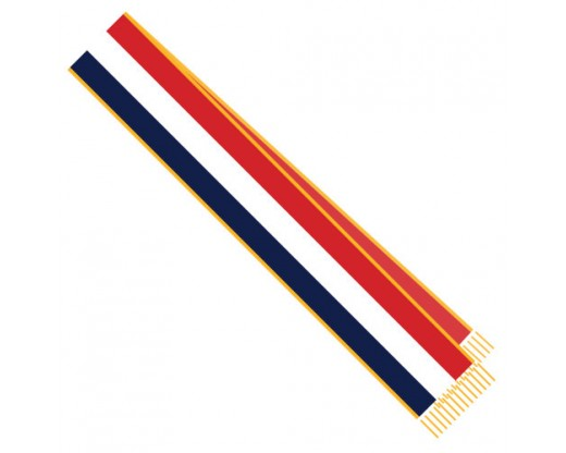 Red, White & Blue Parade Sash 3 Stripe 7'