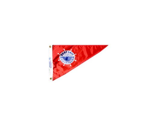 Boat Safe & Sober Triangle Pennant - 10x15""
