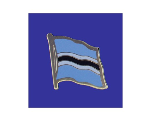 Botswana Lapel Pin (Single Waving Flag)