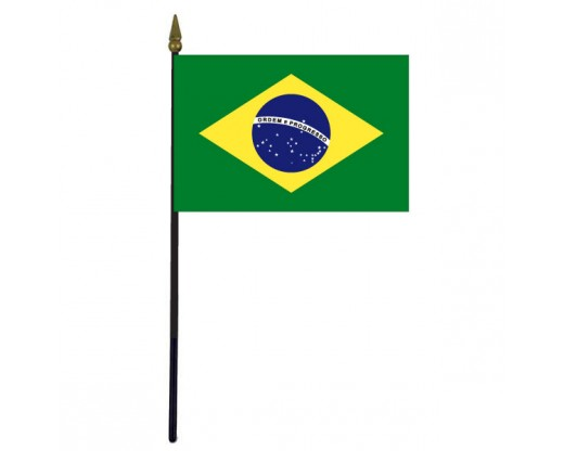 "Brazil Stick Flag - 4x6"""
