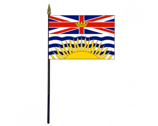 British Columbia Stick Flag - 4x6""
