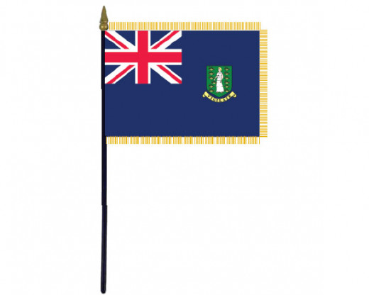 British Virgin Islands Fringed Stick Flag