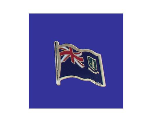 British Virgin Islands Lapel Pin (Single Waving Flag)