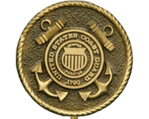 Coast Guard Bronze Grave Marker (Premium)