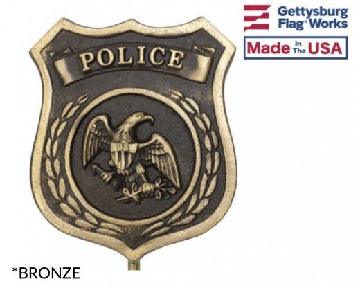 Bronze Police Grave Marker