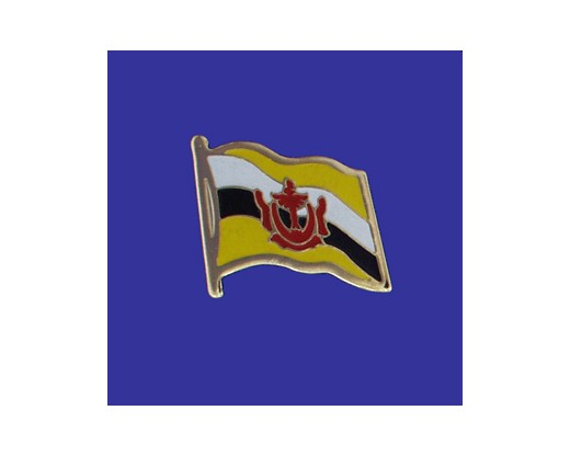 Brunei Lapel Pin (Single Waving Flag)