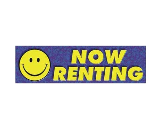 Now Renting Banner – Smiley