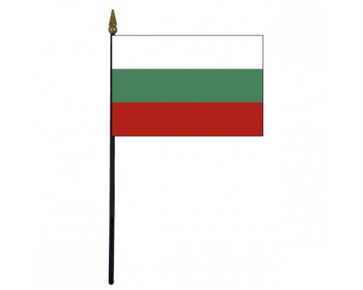 Bulgaria Stick Flag - 4x6""