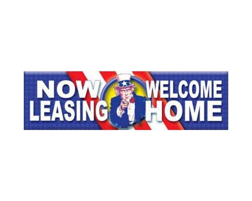 Now Leasing / Welcome Home Banner - Uncle Sam