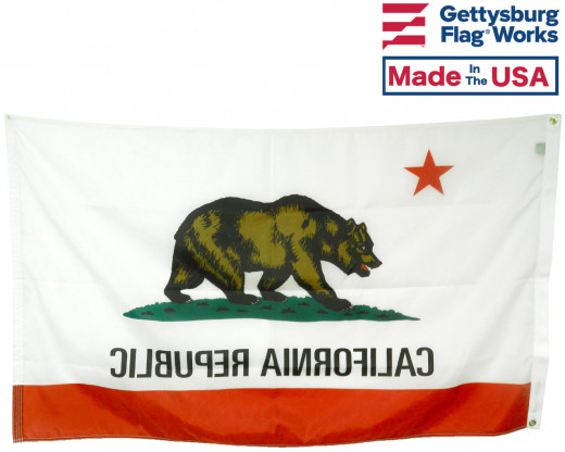 Back of California Flag
