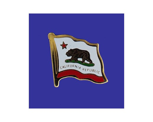California State Flag Lapel Pin (Single Waving Flag) (Imported - Close Out)