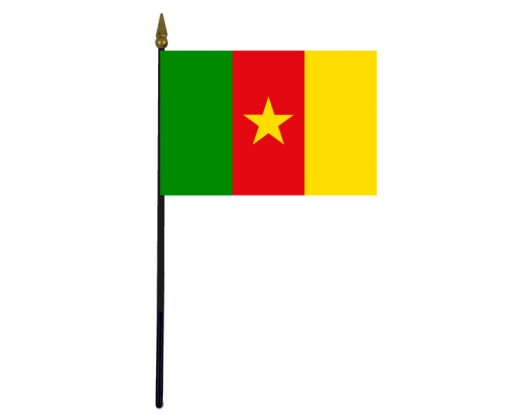 Cameroon Stick Flag - 4x6""