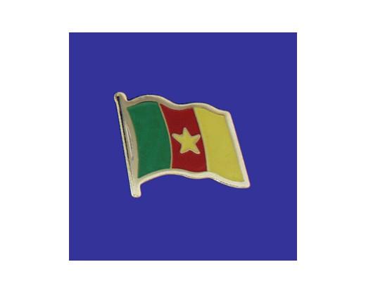 Cameroon Lapel Pin (Single Waving Flag)
