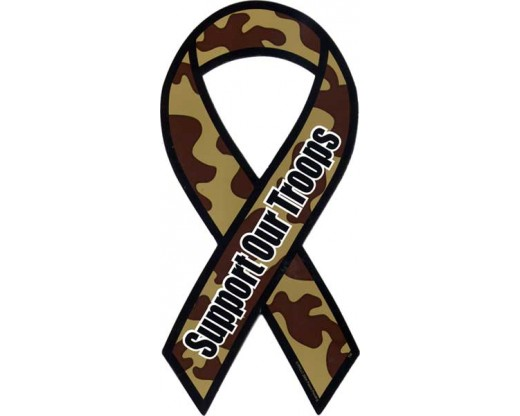 Camouflage Support Our Troops Magnet