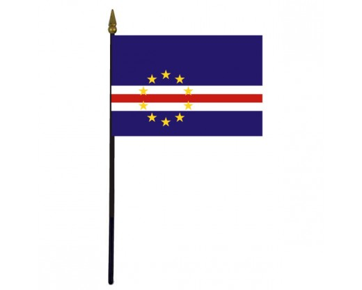 Cape Verde Stick Flag - 4x6""
