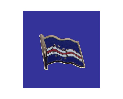Cape Verde  Lapel Pin (Single Waving Flag)