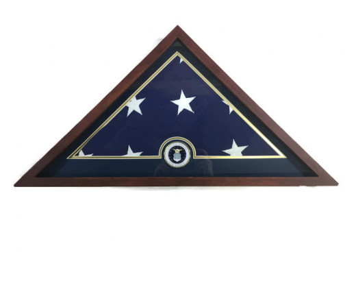 Memorial Case with Air Force Medallion