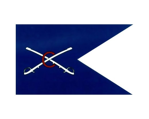 Cavalry HQ Guidon Flag (1863) - 3x5'