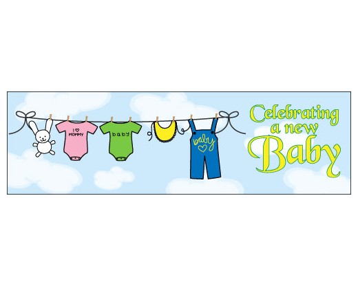 Celebrating a New Baby Banner