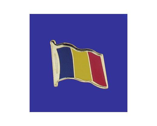 Chad Lapel Pin (Single Waving Flag)