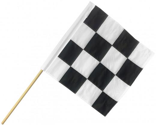 Motorcycle Racing End of Race Flag
