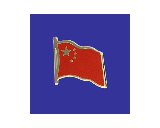China Lapel Pin (Single Waving Flag) (Imported - Close Out)