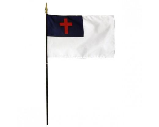 Christian Stick Flag