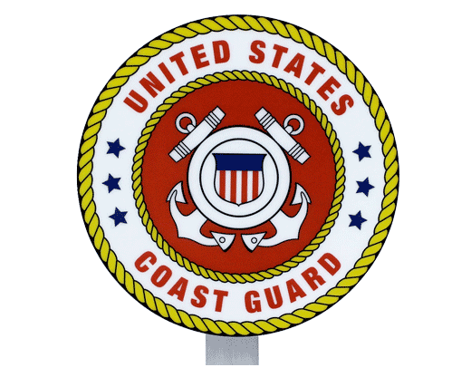 Coast Guard Seal Grave Marker
