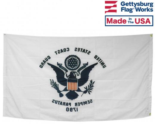 Back of COAST GUARD FLAG