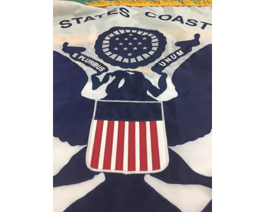 U.S. Coast Guard Applique Flag, 3x5