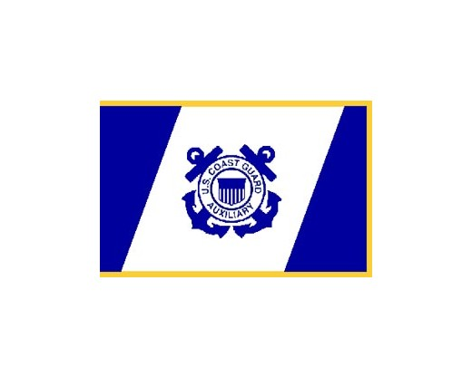 Coast Guard Auxiliary Flag, Pole Sleeve & Fringe - 3x5'