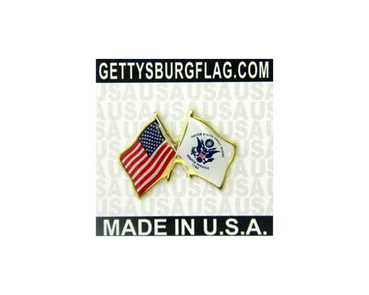 Coast Guard Flag Lapel Pin (Double Waving Flag w/USA)