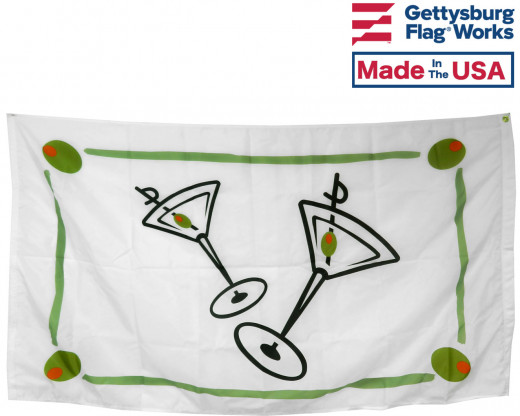 back of cocktail flag
