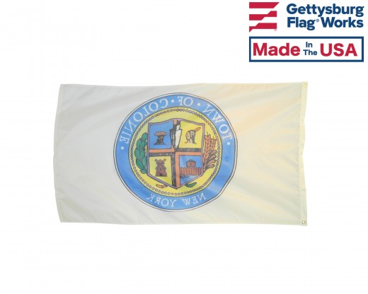 Town of Colonie Flag Back