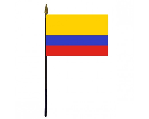Colombia Stick Flag - 4x6""