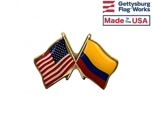 Columbia Lapel Pin (Double Waving Flag w/USA)