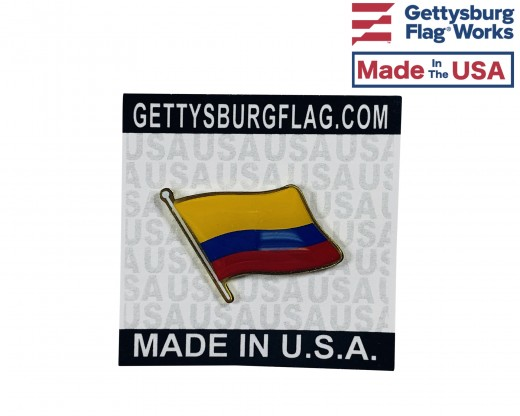 Colombia flag pin