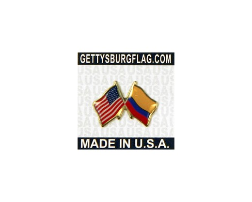 Columbia Lapel Pin (Double Waving Flag w/USA)