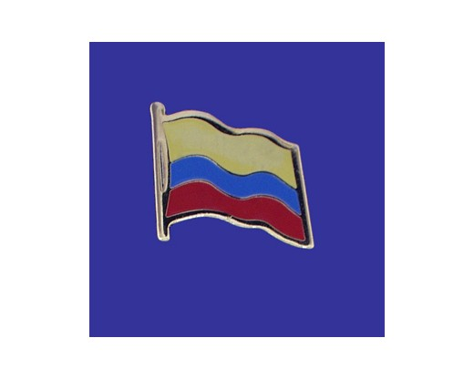 Awesome Colombia Lapel Pin (Single Waving Flag)