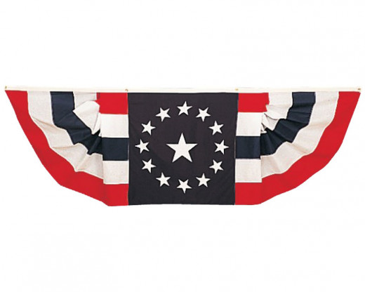 Colonial Star Pleated Bunting Decoration