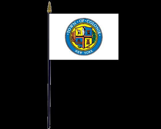 Colonie Town Stick Flag (New York, USA)
