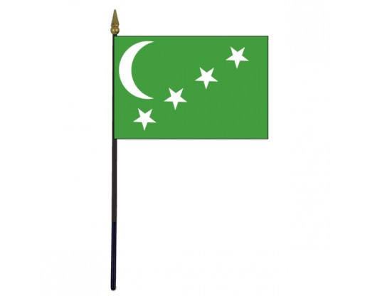 Comoros Stick Flag (Historical) - 4x6""
