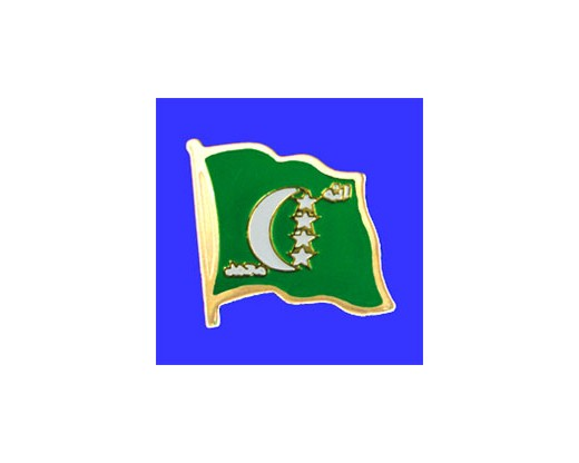 Comoros Lapel Pin (Single Waving Flag)