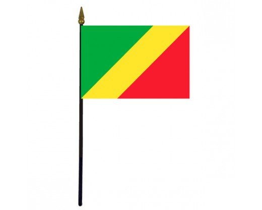 Congo Republic Stick Flag - 4x6""
